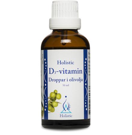Holistic D3-vitamindroppar i olivolja